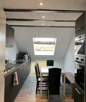 Gepflegte 3-Raum-Dachgeschosswohnung mit Einbauküche in Maulburg
