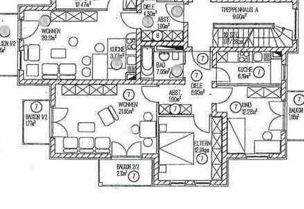 Kapitalanleger aufgepasst, 7,33% Rendite !! Vermietete, helle Drei-Zimmer-Wohnung mit 3 Balkonen
