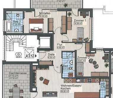 4-Zimmer Penthousewohnung in Senden