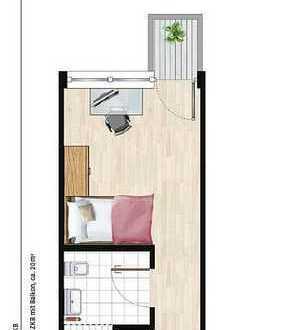 Erstbezug mit Einbauküche und kleinem Balkon: exklusive 1-Zimmer-Wohnung in Augsburg
