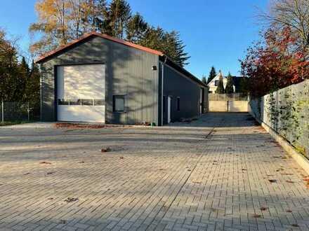 Neue Warmhalle 300m² -Alarmgesichert- 1200 m² eingezäunt