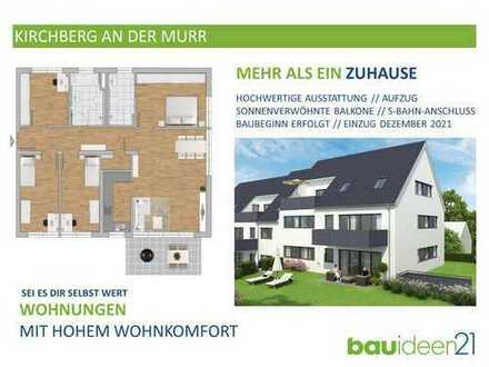 1.OG - 5-Zi.-Whg. mit 121 m², Bad en Suite, Kinderbad, Aufzug und Tiefgarage