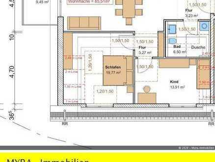 *Projektiert* DG-Wohnung Nr.10 mit Balkon und TG-Stellplatz - Barrierefreie & behindertengerecht *