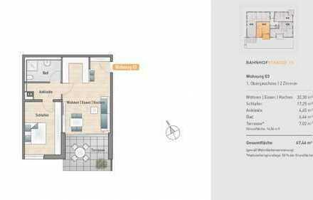 Gehobene 2-Zimmer-Wohnung mit Südbalkon