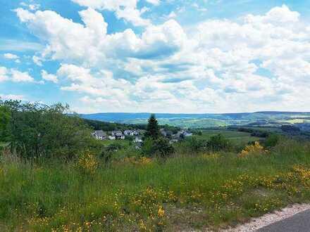 Sie wünschen ein Grundstück über 1000 qm ? Hier werden Sie fündig! Mit Blick über das gesamte Tal !