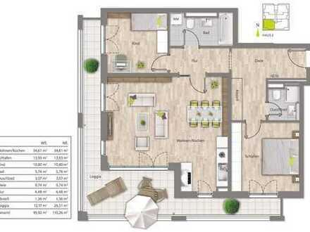 Erstbezug: Großzügige 3-Zimmer-Wohnung mit Loggia in München-Allach