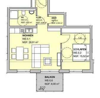 2 ZKB Wohnung im Obergeschoss
