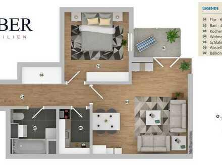 RESERVIERT! Gepflegtes 2-Zimmer Apartment im 9. OG! Stellplatz inklusive.