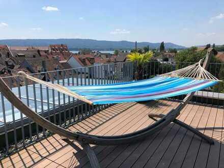 Spektakuläre und einmalige Penthouse-Loft-Wohnung über den Dächern von Radolfzell.