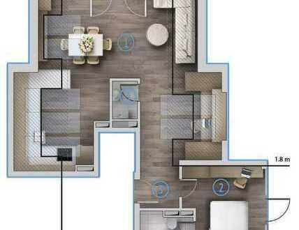 Exklusive 2-Zimmer-Spitzbodenwohnung