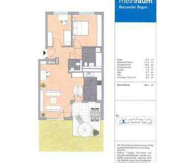 Attraktive 3-Zimmer Erdgeschosswohnung mit Terrasse in Köln-Ossendorf