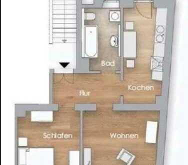 Moderne 2-Zimmer-Wohnung mit Balkon und EBK in Leipzig