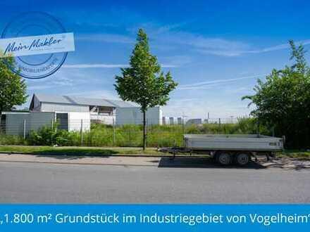 1.800 m² Grundstück im Industriegebiet von Vogelheim