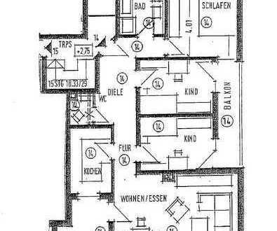 Gepflegte 4-Zimmer / inkl. EBK / Keller / Stellplatz / Balkon in Weinstadt
