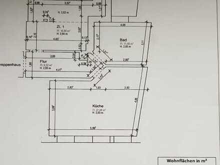 Erstbezug nach Sanierung: geräumige 1,5-Zimmer-Wohnung zur Miete in Markranstädt