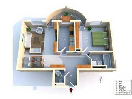 Schöne Leerwohnung: 2 Zimmer Wohnung Stauffenbergring 9