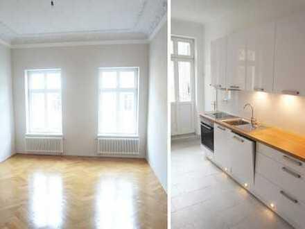 Altbau-Wohnung im schönen Waldstraßenviertel, Parkett, Stuck, Stiltüren, Balkon, inkl. EBK, Lift