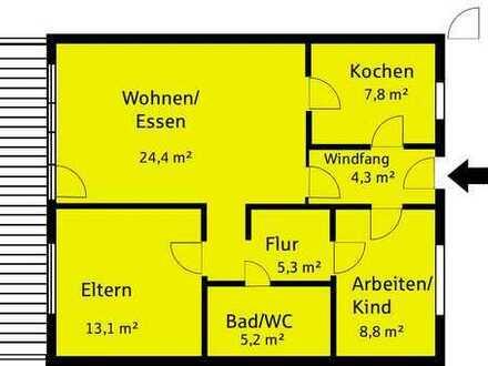Gepflegte 3-Zimmer-Wohnung mit Balkon und Einbauküche in Forchheim