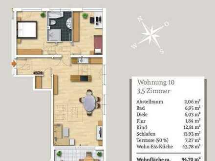 Solide 3,5-Zi.-Obergeschosswohnung mit großem Gartenanteil