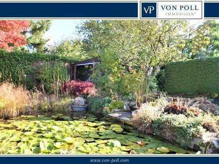 Idylle im eigenen Garten mit privatem Teich - großzügige und helle Wohnung