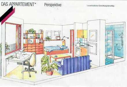 VON PRIVAT: 1-Zimmer-Wohnung mit Balkon, Küche und TG in Würzburg Frauenland