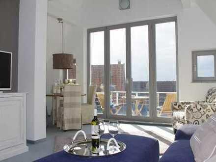Moderne, komplett möblierte 3 Zimmer-Maisonette-Wohnung mit Balkon und Garage in B.S.-Innenstadt