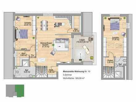 Leben auf 2 Ebenen_Maisonette-Wohnung der besonderen Klasse