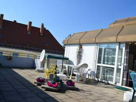 65m² Dachterrasse, Ruhe, aber mitten im Leben
