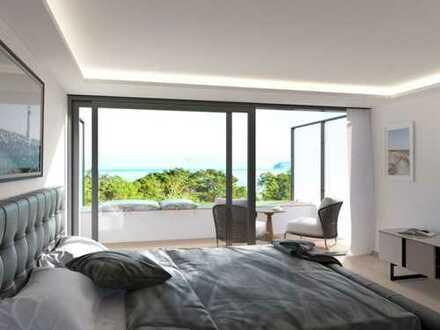 Maisonette Loft mit 2 Balkonen, Meerblick und Terrasse