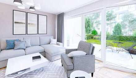 großzügige 3 Zimmer-Wohnung mit Gartenanteil und Terrasse