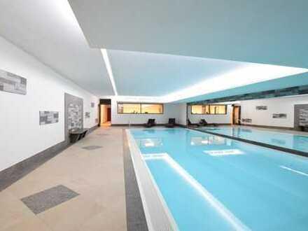 Top ausgestattete Penthouse-Maisonettenwhg. mit Rheinblick, Einbauküche, inkl. Schwimmbad und Sauna