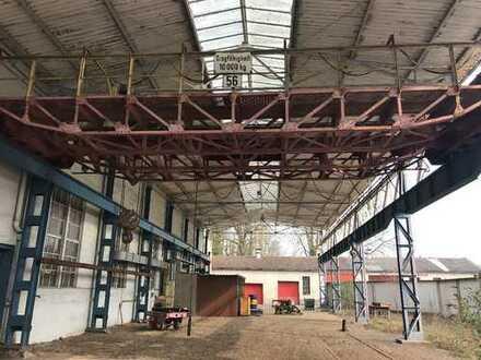 Produktionshalle mit Kranbahn, Büro und Freifläche im Industriegebiet von 56564 Neuwied zu vermieten