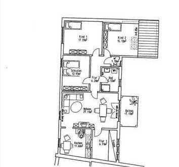 Moderne helle 4-Zi-Wohnung mit Balkon