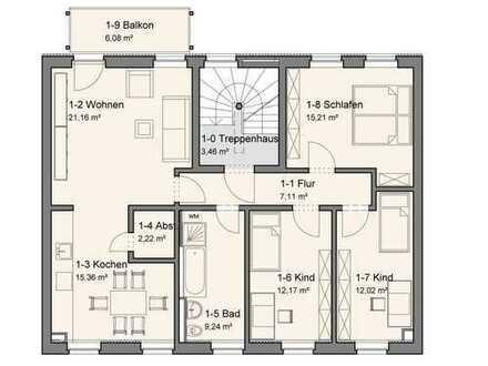 Erstbezug nach Sanierung, 4-Raum-Wohnung in Werdau zu vermieten