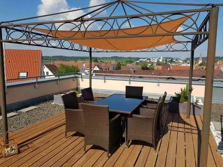 3,5 Zimmer DG -Wohnung mit großer Dachterasse und Penthaus-Flair