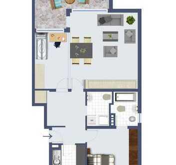 sonnige und großzügige 2 Zimmer-Wohnung mit Südbalkon