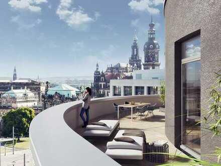 Mehr geht nicht! Exklusives Penthouse in bester Lage Dresdens mit Kaminofen und großer Dachterrasse