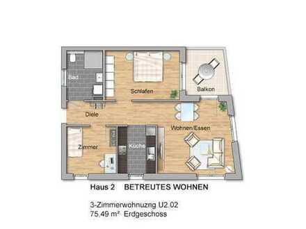 BETREUTES WOHNEN: 3-Zimmerwohnung in der Neuen Ortsmitte
