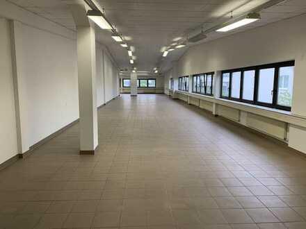 Büro- u. Ausstellungsflächen, ca. 550 m², teilbar ab 250 m², gute Lage, günstig zu vermieten