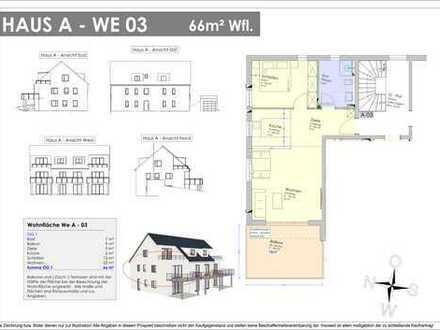 NEUBAU! 66m² OG-Wohnung mit 18m² XXL-Balkon - Provisionsfrei ! (A 03)