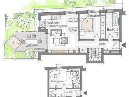 2- (3-) Zimmer mit 17 m² voll ausgeb. Hobbyraum