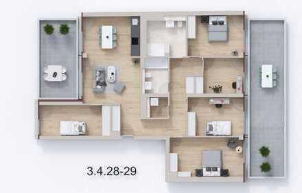 Große barrierefreie Familienwohnung im Gartenhaus mit 4 Schlafzimmern und 2 Terrassen im Florakiez