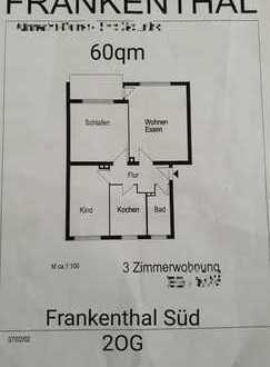 Provisionsfrei Attraktive 3-Zimmer-Wohnung mit Balkon in Frankenthal (Pfalz)