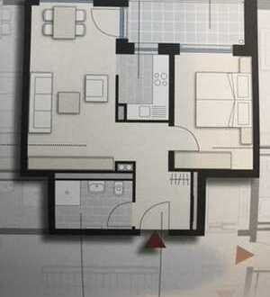 Neubau: schöne 2-Zimmer-Wohnung in Singen Innenstadt.