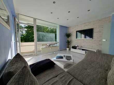 Exklusive, vollständig renovierte 3-Zimmer-Wohnung mit Balkon, Whirlpool, Garten in Bickendorf, Köln