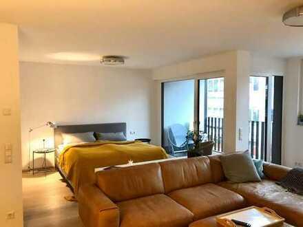 Stilvolle und neuwertige umfunktionierte 1-Zimmer-Wohnung mit Balkon und EBK im Marrahaus Heilbronn