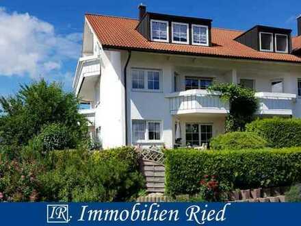 Wunderbare, absolut ruhige und neu renovierte 3-Zimmer-Wohnung mit Süd- und Westbalkon in Probstried