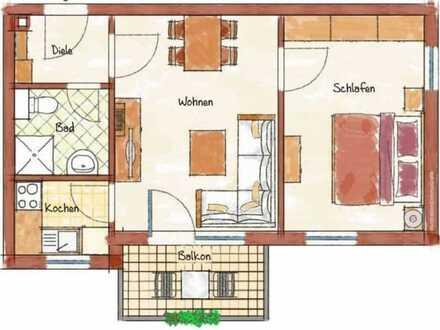 Erstbezug nach Sanierung mit EBK und Balkon: stilvolle 2-Zimmer-Wohnung in Bad Griesbach im Rottal