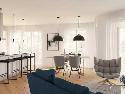 *Ruhiges Wohnen inmitten von Grün* 4-Zimmer-Wohnung mit 2 Bädern und Loggia in idealer Lage