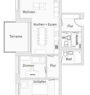 3-Zimmer-Wohnung EG